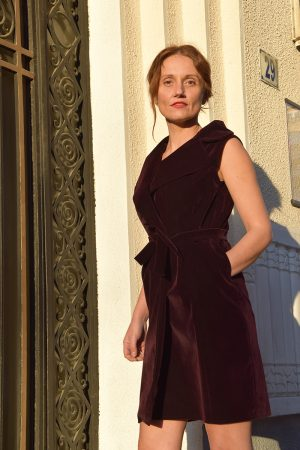 Vesta-rochie din catifea